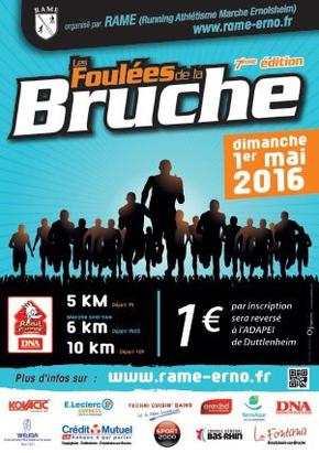 7es FOULEES DE LA BRUCHE à Ernolsheim: BOUE, VIGNE, BRUCHE ET SPRINT
