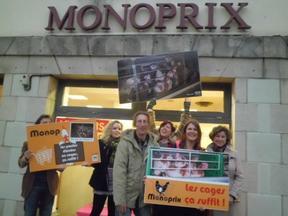 Campagne Monoprix, à Quimper, le 26 Novembre 2011