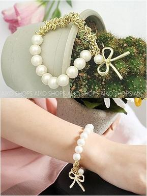 bracelet noeud blanc