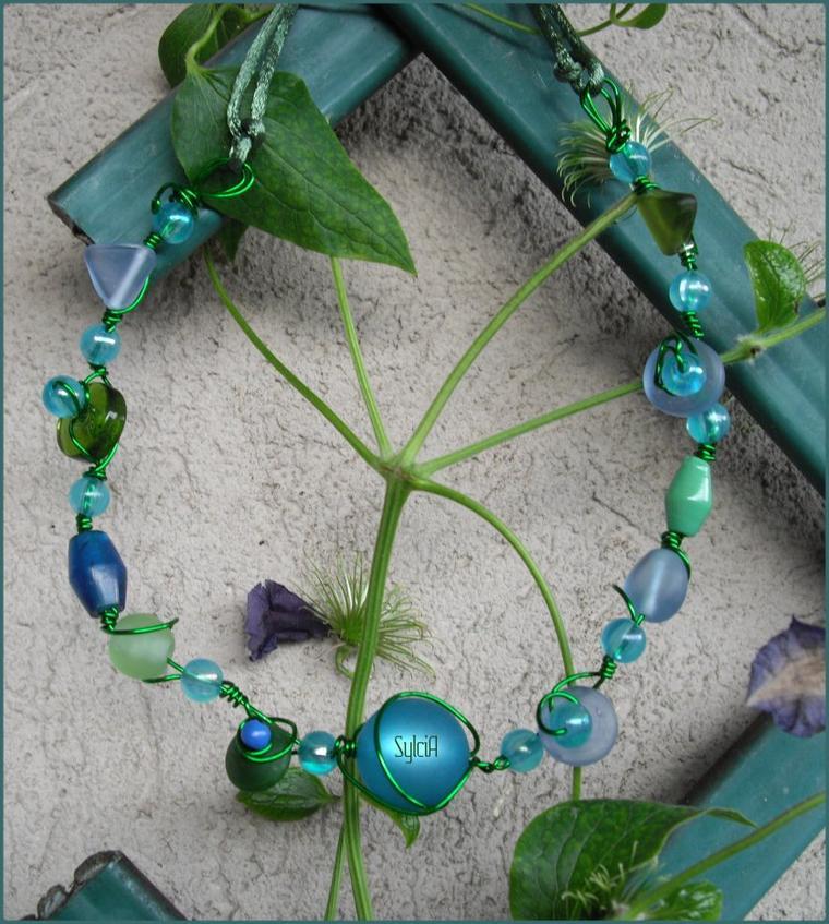 Collier Azul y Verde