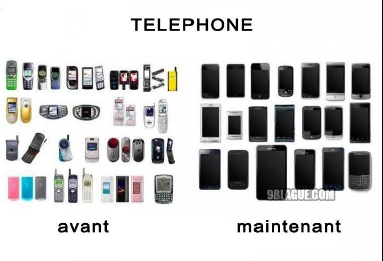 avant et maintenant (le monde change hein !!! ? xD) bon sur le avant certain je les connait pas et d'autre on pas l'air d'etre des telephone xD