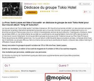 Tokio Hotel en dédicace à la Fnac Saint-Lazare. TH. Paris. 09.10.2014