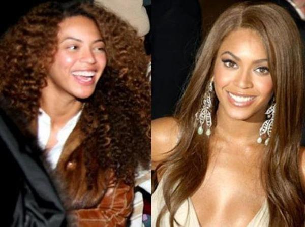 Beyoncé, avec et sans maquillage. Vous en pensez quoi de la différence?