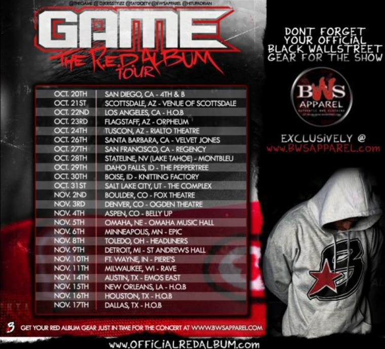 Game - Usa Tour Octobre/Novembre 2011