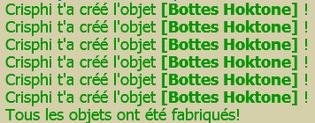 Par Squall: Botte hoktone