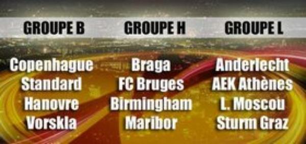 Anderlecht retrouve Athènes, le Standard face à Copenhague, Bruges hérite du dernier finaliste