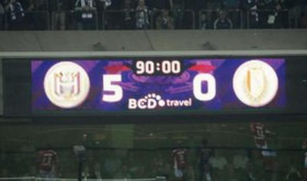 Anderlecht surclasse le Standard : 5-0
