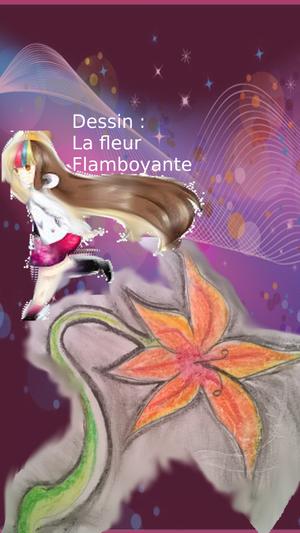 Dessin : Fleur Flamboyante