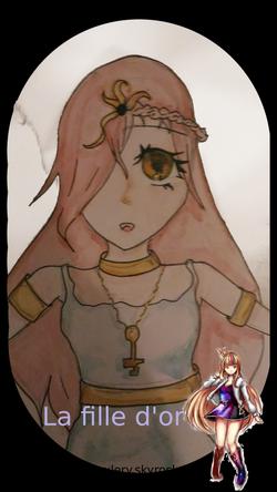 Dessin : La fille d'or