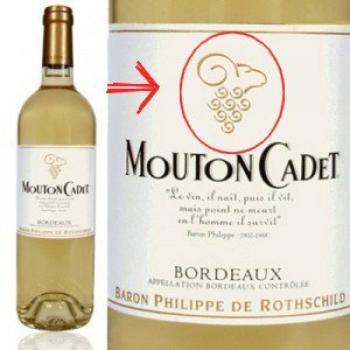 "Bouteille "" Mouton Cadet "" ROTHSCHILD"