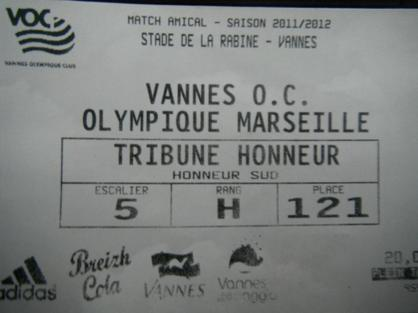 Billets Vannes Olympique Club