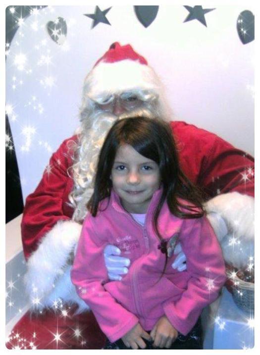 Ma fille avec le Père Noël