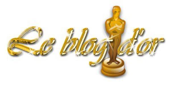 Merci pour mon blog d'or