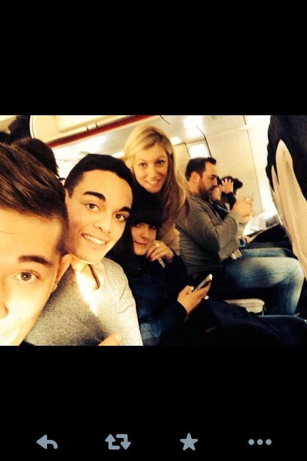 Dans l'avion direction Cannes