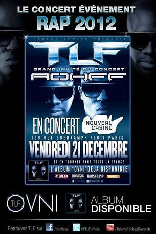 Concert évènement de TLF au Nouveau Casino