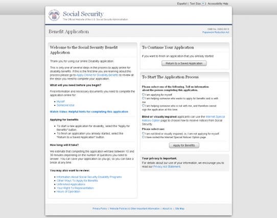 Applying for Social Security Disability Benefits Online