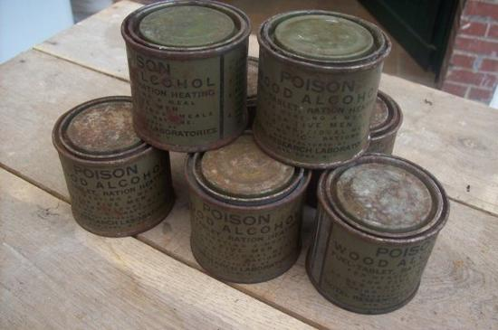 lot de boite d'alcool gélifier  ORIGINAL WW2