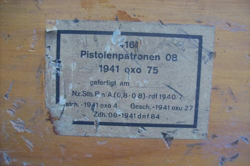 caisse allemande luftdichter patronen 9mm para  ORIGINAL  WW2