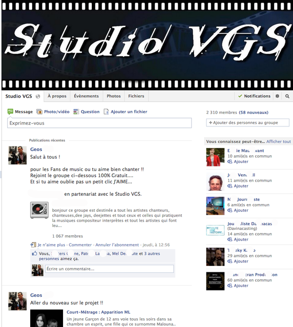 Page Officiel FaceBook !
