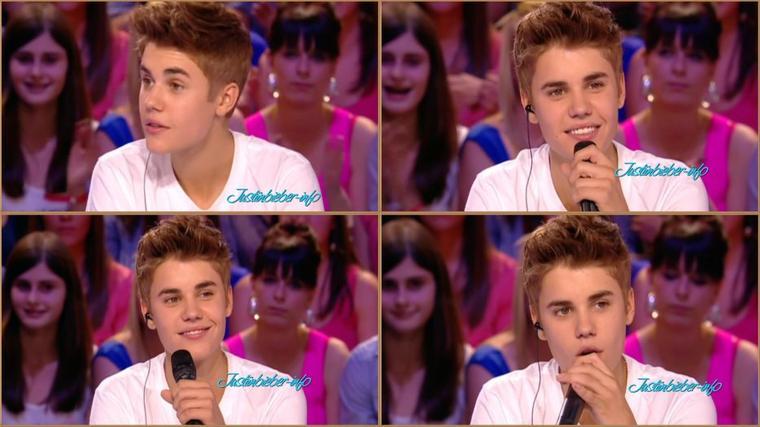 Justin au grand journal 01/06/2012
