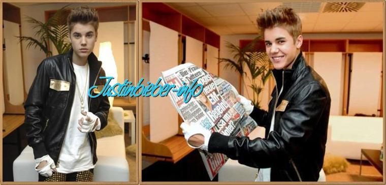 Justin à la cérémonie Next Top Model