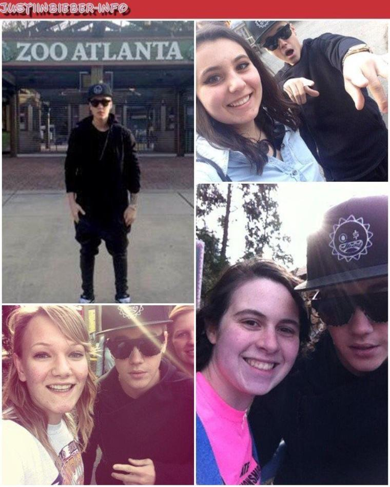 Justin au Zoo.