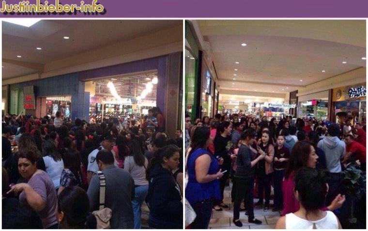 Justin Bieber et Selena Gomez dans un magasin au Texas.