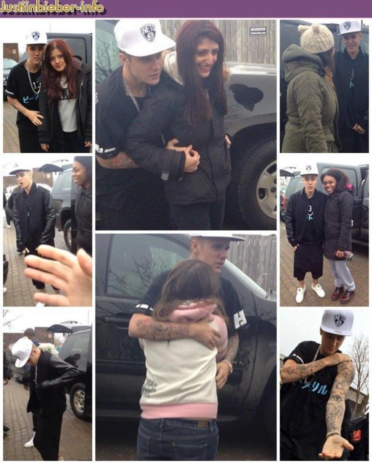 Justin et ses fans au Canada.