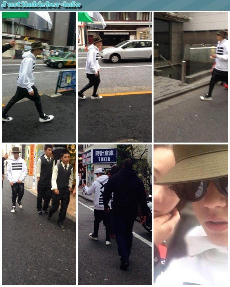 Justin au Japon.