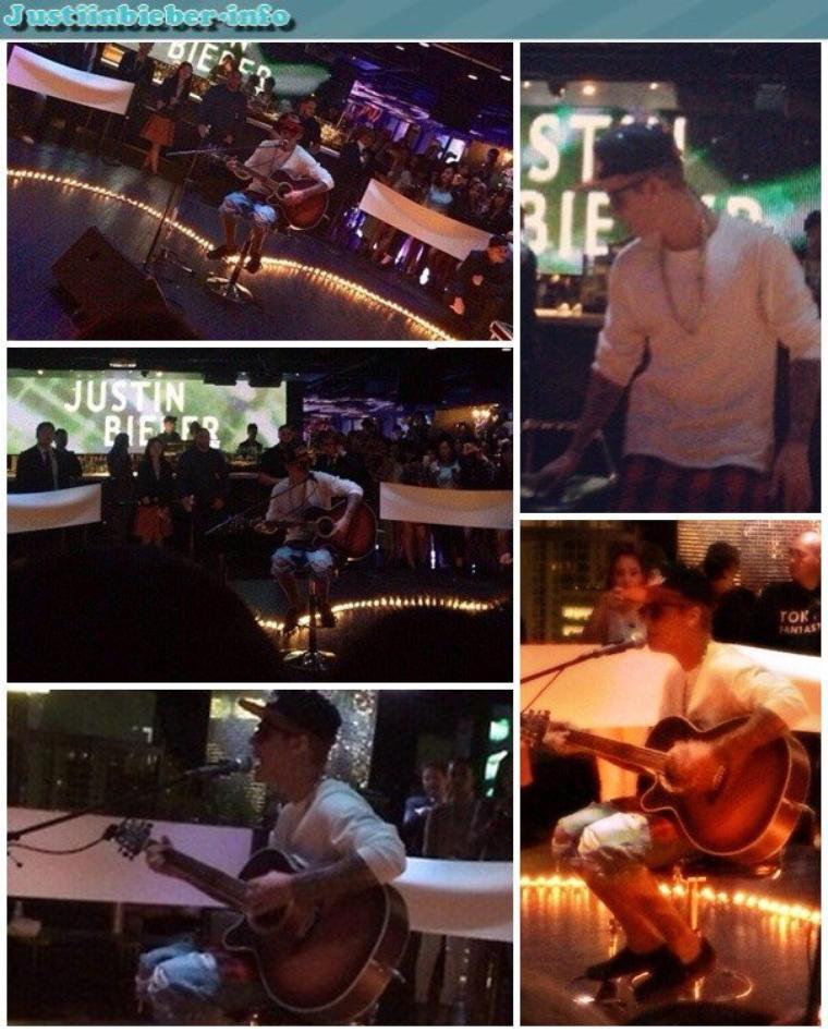 Justin en concert au Club V2 à Tokyo.