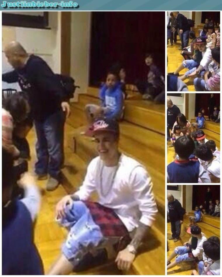 Justin dans un un orphelinat à Tokyo.