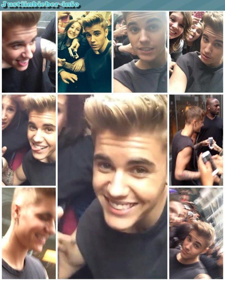 Justin et ses fans à New York.