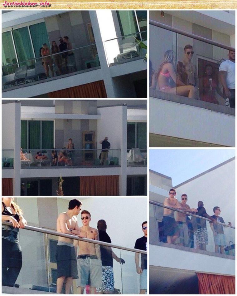 Justin au balcon de son hôtel.