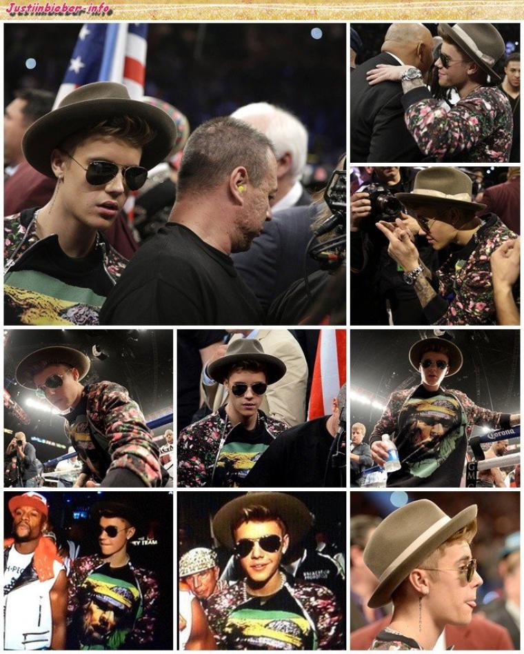 Justin à un match de boxe.