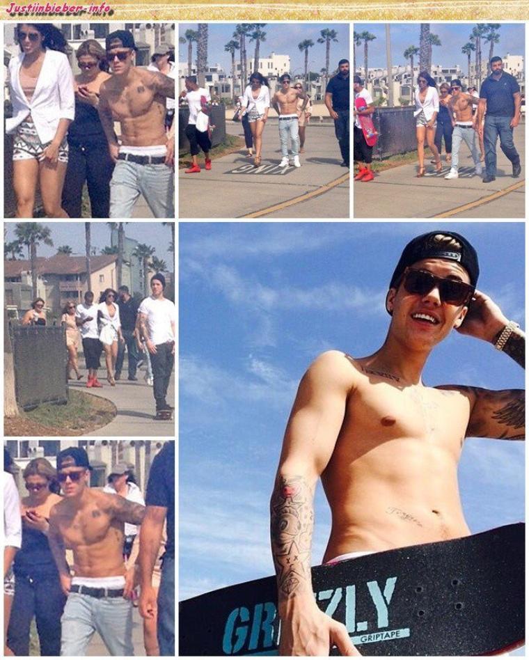 Justin à Venice Beach, Los Angeles.