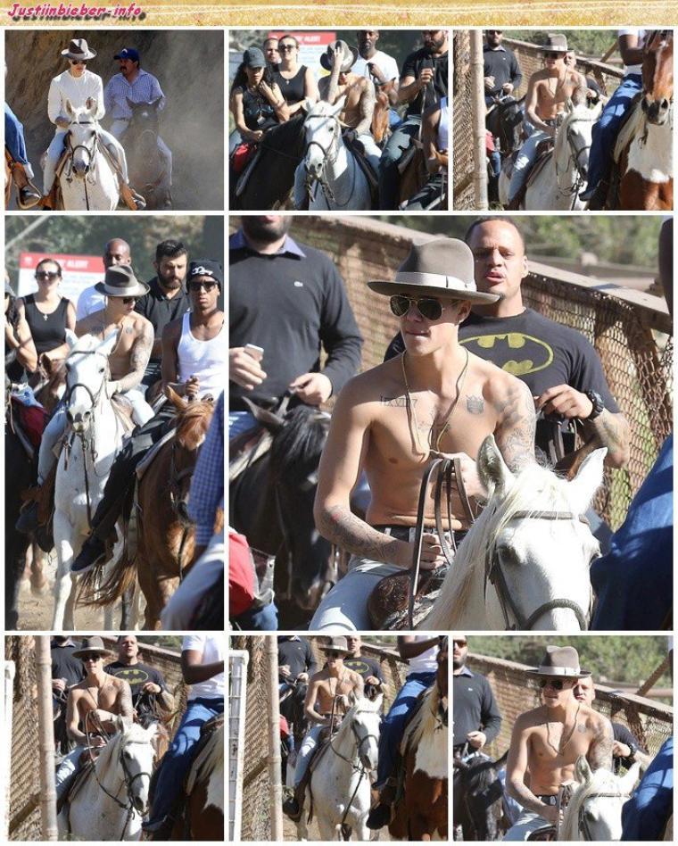 Justin en ballade à cheval.