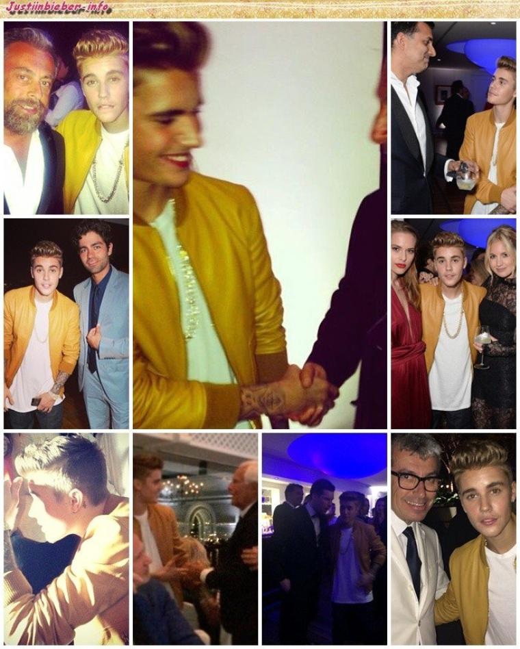 Justin au festival de Cannes (première soirée). Partie 1.
