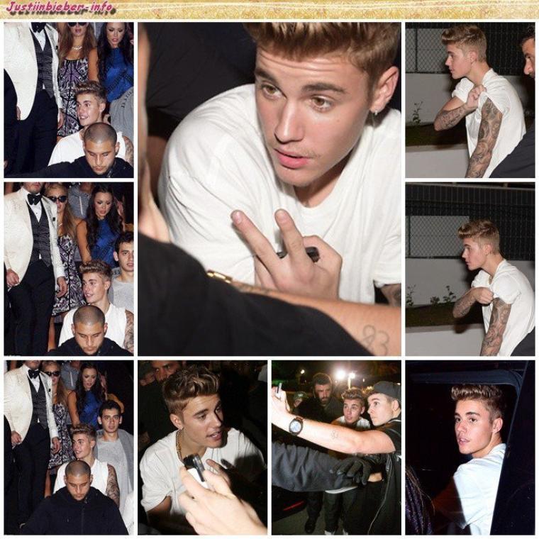 Justin au festival de Cannes (première soirée). Partie 2.