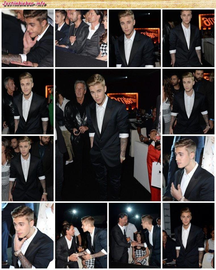 Justin au Amber Lounge Fashion Show à Monte Carlo.