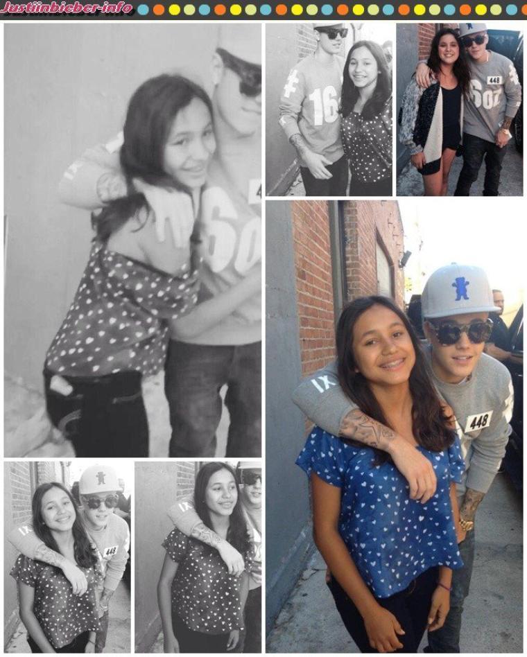 Justin et ses fans à Los Angeles.