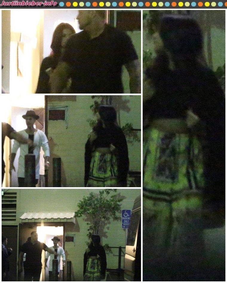 Justin et Selena passent leur soirée ensemble.