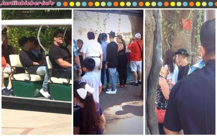 Justin et Selena à Los Angeles - Justin et ses fans.