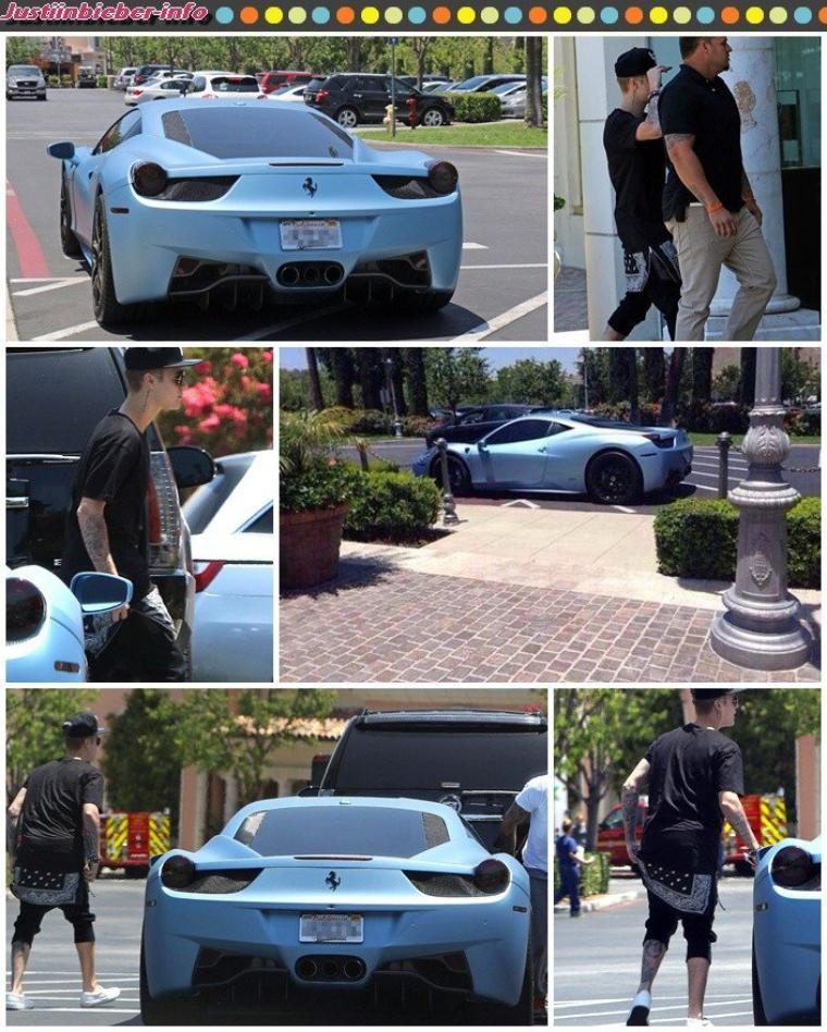 Justin fait du shopping à Los Angeles - Accident de voiture - Justin en studio.