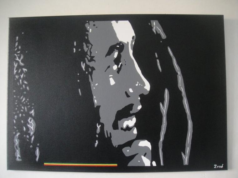 Peinture sur toile Bob Marley