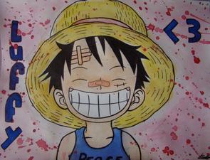 Manga : Luffy à la peinture =)