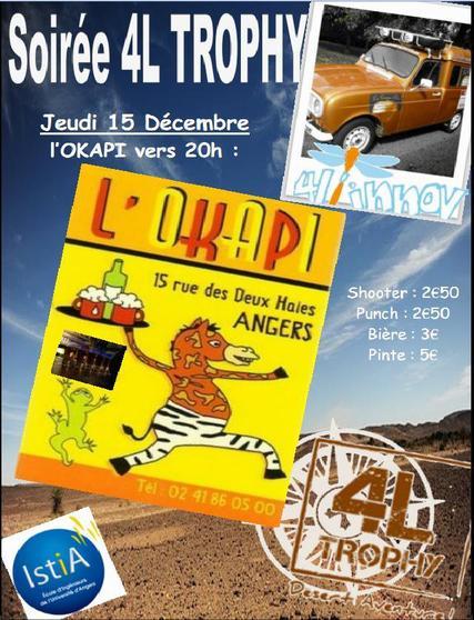 Soirée OKAPI Jeudi 15 Décembre 2011