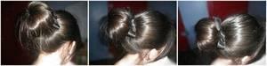 Chignon bun + noeud en ruban