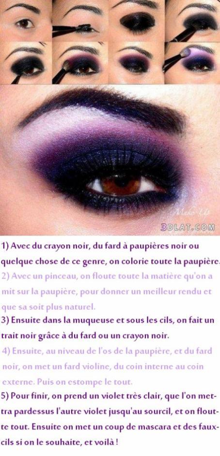 Tuto makeup: smocky violet