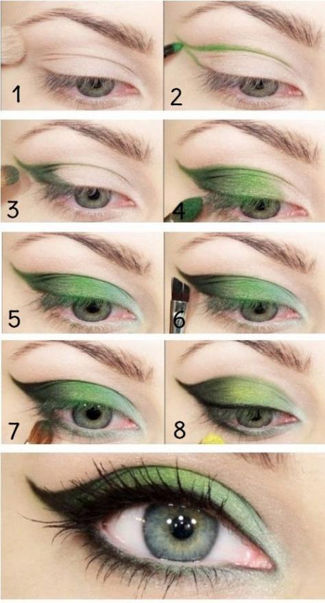 Tuto makeup: dégradé de vert