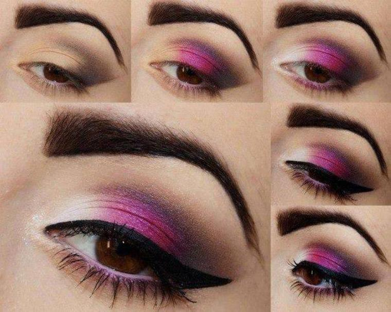 Tuto makeup violet